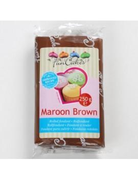Pâte à sucre maroon brown...