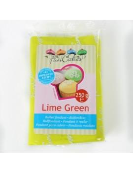 Pâte à sucre lime green...