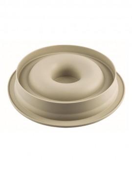 Support carré épais argenté 40 cm