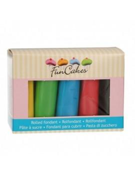 Kit pâte à sucre 5 couleurs...