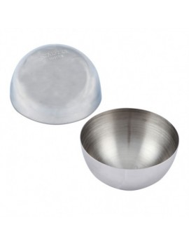 Moule demi sphère inox 8 cm
