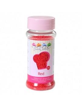 Micro billes en sucre rouge