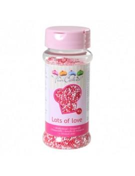 Micro billes en sucre rose...