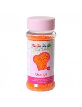 Micro billes en sucre orange