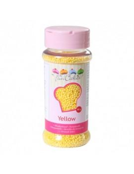 Micro billes en sucre jaune