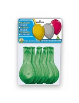 Ballon Latex Métallisé Vert